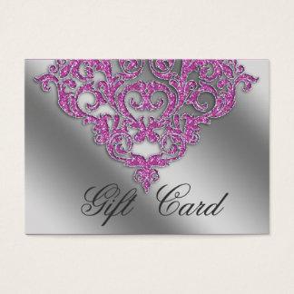 Damask Wedding Gift Registration Card Pink Spark