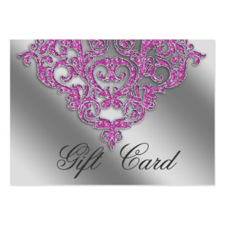 Damask Wedding Gift Registration Card Pink Spark Pack Of Chubby Business Cards