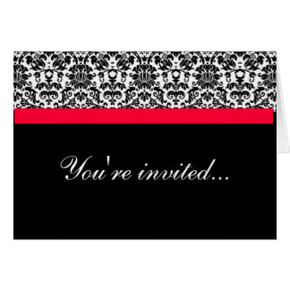 Damask Wedding Invite