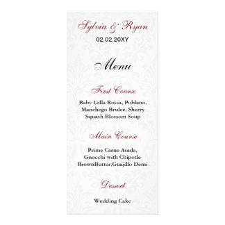 Damask Wedding Menus