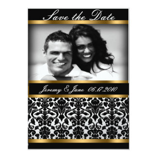 Damask Wedding  Save the Date Announcement
