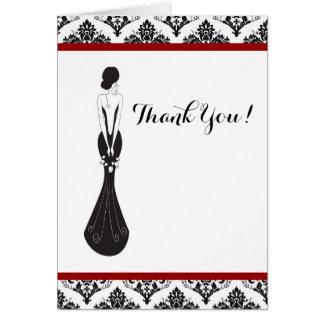 Damask Wedding Thank You Card