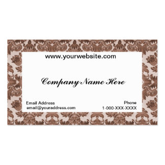 Damask White Business Profile Card Pack Of Standard Business Cards