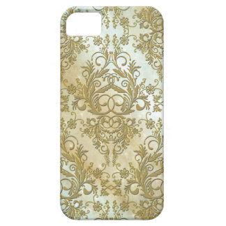Damask Wildflowers, Morning Stars in Gold Barely There iPhone 5 Case