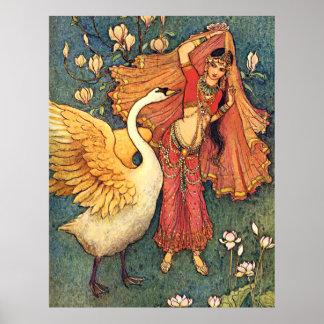 Damayanti and the Swan Poster