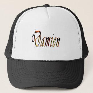 Damien Name Logo, Trucker Hat