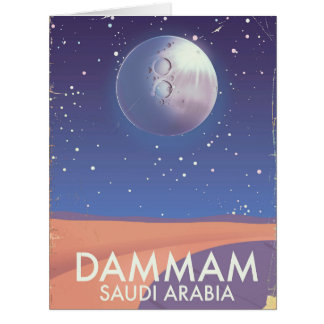 Dammam Saudi Arabia Travel poster Card