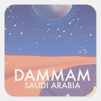 Dammam Saudi Arabia Travel poster Square Sticker