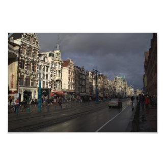 Damrak, Amsterdam Art Photo