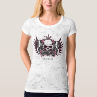 Damsels of Distress - Pink and Black T-Shirt