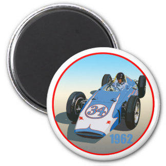 Dan Gurney 1962 Indy 6 Cm Round Magnet