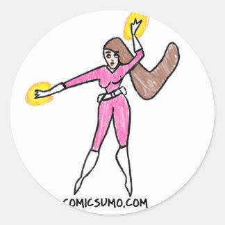 Dana Action Girl Classic Round Sticker