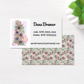 Dana Flower Business Card with Repeat on Back