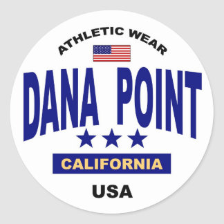 Dana Point California Classic Round Sticker