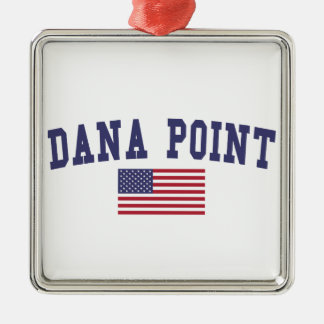 Dana Point US Flag Metal Ornament