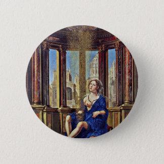 Danae By Gossaert Jan (Best Quality) 6 Cm Round Badge
