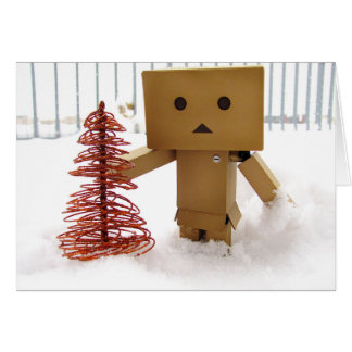 Danbo in the Snow Warm Wishes Christmas Card