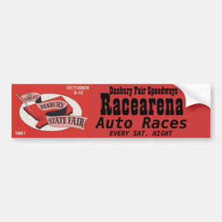 Danbury Fair Racearena Bumper Sticker