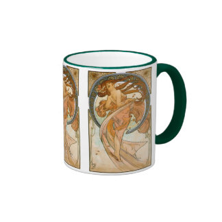 Dance (1898), Alphonse Mucha Fine Art Nouveau Coffee Mugs