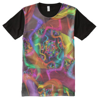 Dance 2 Psychedelic Abstract Fine Fractal All-Over Print T-Shirt