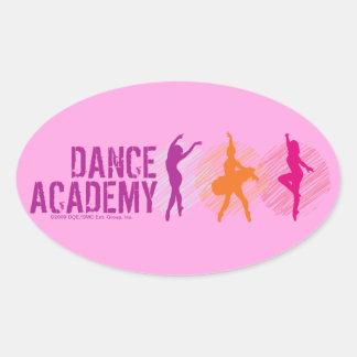 Dance Academy Color Dancers Logo Oval Sticker