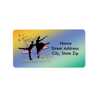 Dance Among Stars Address Label
