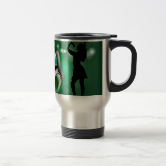 Dance and music stainless steel travel mug