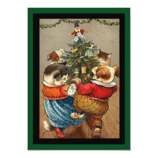 Dance Around the Christmas Tree 11 Cm X 16 Cm Invitation Card