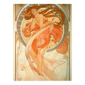 """""""Dance"""" -  Art Nouveau - Alphonse Mucha Postcard"""