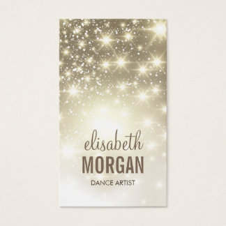 Dance Artist - Shiny Gold Sparkles Business Card