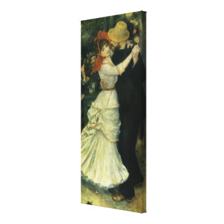 Dance at Bougival by Renoir, Vintage Impressionism Gallery Wrapped Canvas