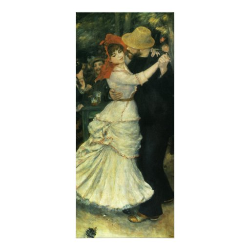 Dance at Bougival by Renoir, Vintage Impressionism Announcements