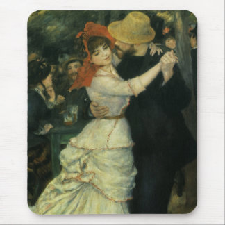 Dance at Bougival by Renoir Vintage Impressionism Mouse Pads