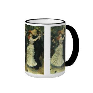 Dance at Bougival by Renoir, Vintage Impressionism Ringer Mug