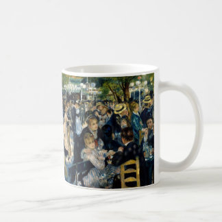 Dance at Le Moulin de la Galette by Renoir Basic White Mug