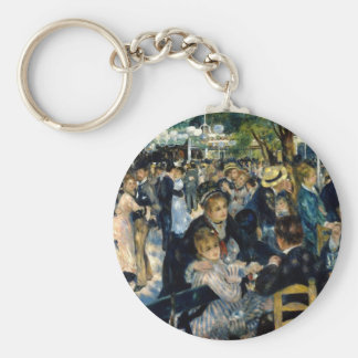 Dance at Le Moulin de la Galette by Renoir Key Ring