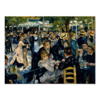 Dance at Le Moulin de la Galette by Renoir Poster