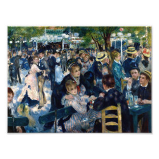 Dance at Le Moulin de la Galette Photo Print