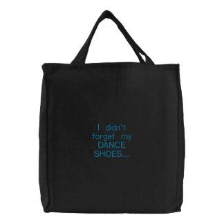 Dance Bag Embroidered Tote Bag