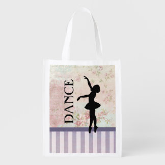 Dance - Ballerina Silhouette on Vintage Background