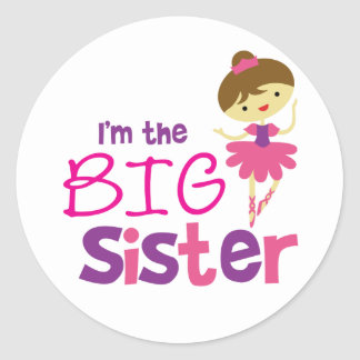 Dance Ballet Big Sister Classic Round Sticker