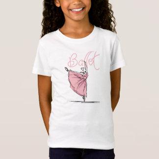 Dance Ballet Girls' Fitted Babydoll T-Shirt