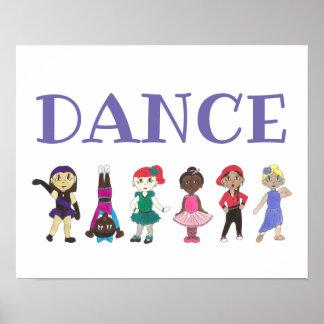 DANCE Ballet Tap Jazz Acro Hip Hop Lyrical Dancers Poster