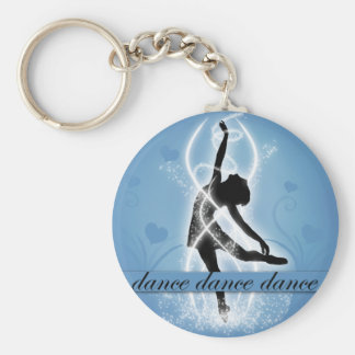 Dance Basic Round Button Key Ring