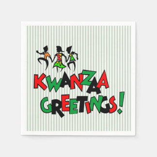 Dance Beat Kwanzaa Party Paper Napkins