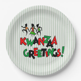 Dance Beat Kwanzaa Party Paper Plates