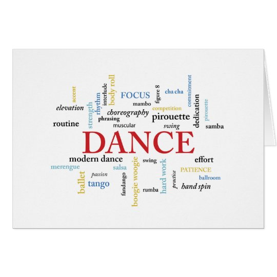Dance Birthday in Words Card