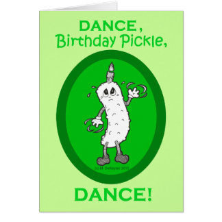 Dance Birthday Pickle Dance Cards