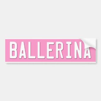 Dance Bumper Sticker Pink License Plate