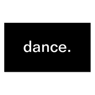 Dance Pack Of Standard Business Cards